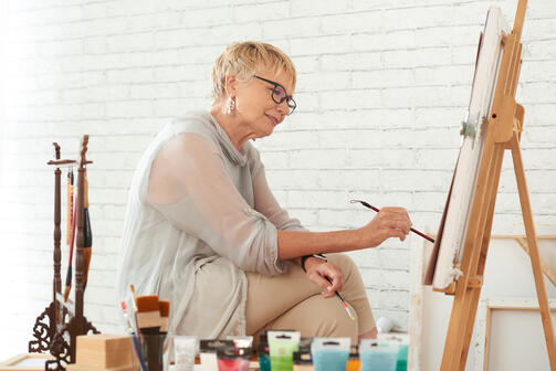 paint with your caregiver for an indoor activity