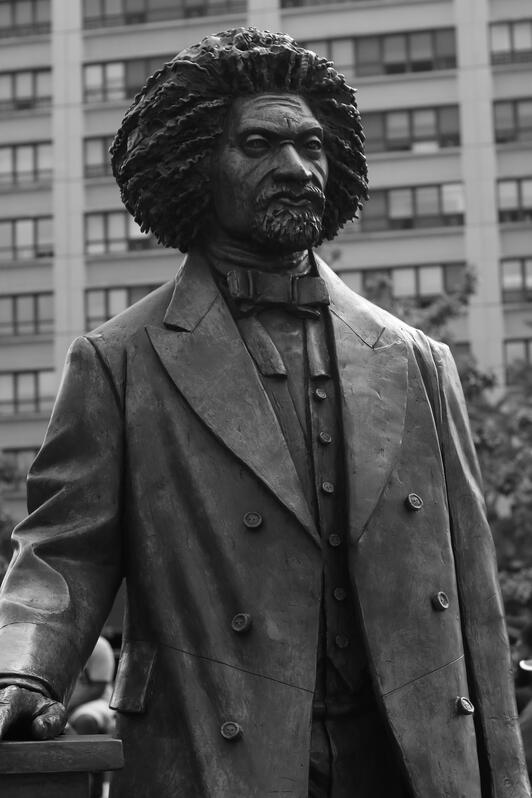 a statue of Frederick Douglass